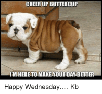 CHEER UP BUTTERCUP  IMHERETOMAKE YOURDAY BETTER  Happy Wednesday.... Kb Cheer Up Buttercup, I'm here to make your day better
