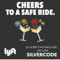 CHEERS  TO A SAFE RIDE.  Up to $50 Free Ride Credit  lyft  Use Code:  SILVERCODE Don't drink and drive.. take a Lyft! Just download the app from my Bio and use the code! 🚘👍🏼 lyftcode lyftpromocode lyft newyork boston philadelphia miami chicago atlanta sanantonio dallas houston phoenix sandiego seattle sanfrancisco losangeles savemoney