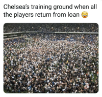 Memes, All The, and 🤖: Chelsea's training ground when all  the players return from loan