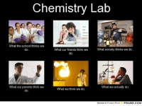 what i actually do: Chemistry Lab  What the school thinks we  What our friends think we  What society thinks we do  do  What our parents think we  What we actually do.  What we think we do.  do  MEMES & FUNNY PICS  FRABZ COM