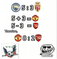 :p: CHESA  S 23  AS MONACO  CITY  CHE  5 3  NITE  Arsenal  o 33 B  Therefore  CHE  88 2  Arsenal  NITE  4-4-2  PROBLEM P :p
