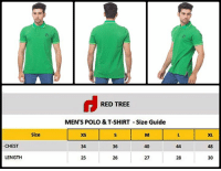 CHEST  LENGTH  Size  RED TREE  MEN'S POLO &T-SHIRT Size Guide  26  27  28  XL  30 Green Polo T-Shirt With Red Tree Clothing Print In Rs-699/- Product code: RT-1407 Available in Small | Medium | Large | XL Call | Whatsapp | Message 0340-8369854 For Order Visit www.redtreestore.com/men-t-shirt. Or Inbox Us on Facebook