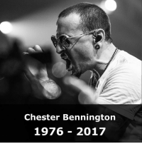 Apparently, Grammy Awards, and Jay: Chester Bennington  1976 - 2017 21 JUL: Linkin Park lead singer Chester Bennington has died aged 41, LA County Coroner says. The coroner said Bennington apparently hanged himself. His body was found at a private home in the county at 09:00 local time (17:00 GMT) on Thursday. Bennington was said to be close to Soundgarden vocalist Chris Cornell, who took his own life in May. Formed in 1996, Linkin Park have sold more than 70 million albums worldwide and won two Grammy Awards. The band had a string of hits including Faint, In The End and Crawling, and collaborated with the rapper Jay-Z. PHOTO: Rich Fury-Getty Images for iHeartMedia @BBCNews ChesterBennington Bennington RIP LinkinPark Faint InTheEnd Crawling music musician singer band