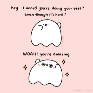 chibird:  Share with someone who is doing their best. ✨ This ghostie is very amazed and proud.  Chibird store | Positive Pin Club | Webtoon   : chibird:  Share with someone who is doing their best. ✨ This ghostie is very amazed and proud.  Chibird store | Positive Pin Club | Webtoon