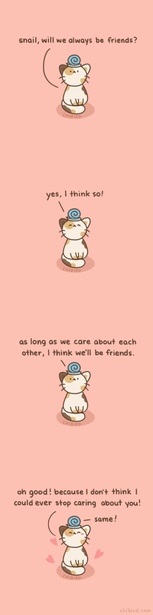 chibird:  Snail and cat, unlikely but good friends! 🐌🐈💕 With a soft and pure friendship, like Pooh and Piglet.  Chibird Store | Patreon | Webtoon   : chibird:  Snail and cat, unlikely but good friends! 🐌🐈💕 With a soft and pure friendship, like Pooh and Piglet.  Chibird Store | Patreon | Webtoon
