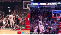 Jimmy Butler's game winner in real life vs. in NBA 2K17.: CHIC  TATSSO  21  21  KI  SHADY00018 ase e).  KI Jimmy Butler's game winner in real life vs. in NBA 2K17.