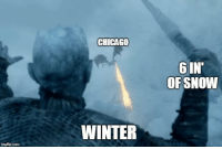 Chicago, Game of Thrones, and Tumblr: CHICAGO  6IN  OF SNOW  WINTER  imgfilip.com game-of-thrones-fans:  Currently at work