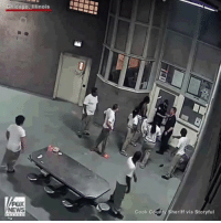 Via @foxnews - Police released video of prisoners attacking officers at a maximum security prison in Illinois. Cook County Sheriff Thomas Dart said he was seeking attempted murder charges against three inmates. @pmwhiphop: Chicago, Illinois  FOX  Cook Coun  Sheriff via Storyful Via @foxnews - Police released video of prisoners attacking officers at a maximum security prison in Illinois. Cook County Sheriff Thomas Dart said he was seeking attempted murder charges against three inmates. @pmwhiphop
