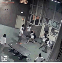 Police released video of prisoners attacking officers at a maximum security prison in Illinois. Cook County Sheriff Thomas Dart said he was seeking attempted murder charges against three inmates.: Chicago, Illinois  NEWS  Cook  County Sheriff via Storyful Police released video of prisoners attacking officers at a maximum security prison in Illinois. Cook County Sheriff Thomas Dart said he was seeking attempted murder charges against three inmates.