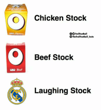 Real Madrid 😂 https://t.co/kNLnupMlM3: Chicken Stock  OOTrollFootball  TheTrollFootball Insta  Beef Stock  oxo Beef  Laughing Stock Real Madrid 😂 https://t.co/kNLnupMlM3