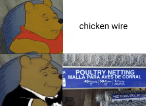 Fowl Lattice: chicken wire  POULTRY NETTING  MALLA PARA AVES DE CORRAL  hay  48-in/pulg. 50-ft/pies 1-in/pulg.  AE  Leng  Mesh Opening  aDertura de la malls  High  Alto  Large  GANDEN POULTRY NETTI  ZONE  USA  36in 125ft I Fowl Lattice