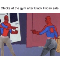 Black Friday, Friday, and Gym: Chicks at the gym after Black Friday sale  7 GY  IG: @thegainz All of em