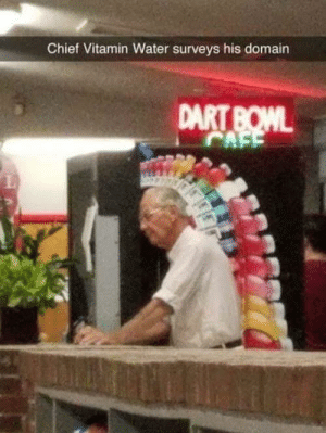 domain: Chief Vitamin Water surveys his domain  DART BOWL  CAFE