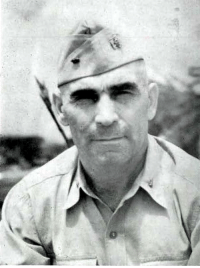 Chief Warrant Officer Joseph N. Rizzi, US Naval Construction Battalion, Maintenance Unit No. 597. CWO Rizzi was also a WWI Army Veteran earning the Silver Star Medal, the John J. Pershing citation, and the Purple Heart. US Navy photo: Chief Warrant Officer Joseph N. Rizzi, US Naval Construction Battalion, Maintenance Unit No. 597. CWO Rizzi was also a WWI Army Veteran earning the Silver Star Medal, the John J. Pershing citation, and the Purple Heart. US Navy photo