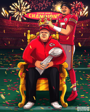 #ChiefsKingdom just got their crown 👑 @Chiefs @PatrickMahomes (via @thecheckdown) https://t.co/BaZZzgc5zZ: #ChiefsKingdom just got their crown 👑 @Chiefs @PatrickMahomes (via @thecheckdown) https://t.co/BaZZzgc5zZ