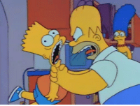 Child abuse is NOT funny. The Homer Simpson character has normalized domestic abuse and violence against children for three decades. Let Fox know he needs to be off The Simpsons.: Child abuse is NOT funny. The Homer Simpson character has normalized domestic abuse and violence against children for three decades. Let Fox know he needs to be off The Simpsons.