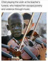 Children, Crying, and Fall: Child playing the violin at his teacher's  funeral, who helped him escape poverty  and violence through music. @Regrann from @standup911 - The heartbroken child in picture is Diego, who is crying at the funeral of his teacher who had helped him come out of poverty and violence through music. His teacher Evandro João da Silva, used to work with an NGO (Afroreggae), which aimed at involving children in activities like music, dance, football etc. so that these children do not fall in to the dark world of drugTrafficking & violence. - r-p @dilute_the_power brazil riodejaneiro standup911 fuckthesystem Favela - regrann