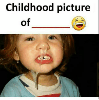 Memes, 🤖, and Picture: Childhood picture  of Kon hai ye? bcbaba