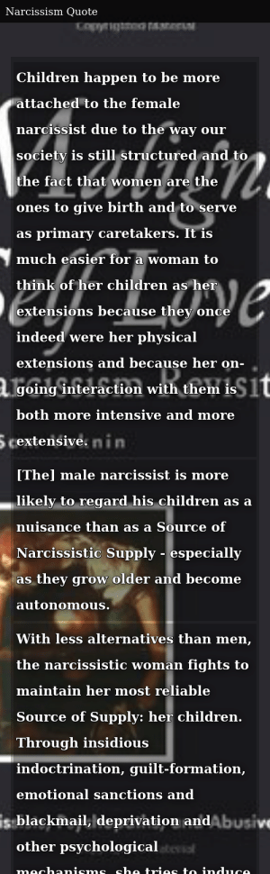 Female Narcissist