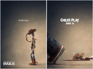 Child's Play, Dank, and Imax: CHILDS PLAY  JUNE 2019  JUNE 21  IMAX you've got a knife in me