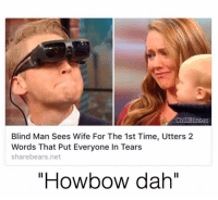 """(@chillblinton): Chill Blinton  Blind Man Sees Wife For The 1st Time, Utters 2  Words That Put Everyone In Tears  share bears.net  """"Howbow dah'' (@chillblinton)"""