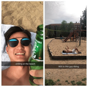 Dank, Memes, and Target: chilling at the beach  Wth is this guy doing an icon 🤧 by Doncano MORE MEMES