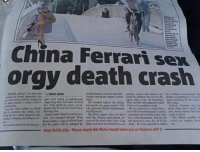 "Ferrari, Orgy, and Sex: China Ferrari sex  orgy death crash  in a ""high speed sex game an n last mceth ef a paurty lcader's wile to his so'scanddss death  Neil Heywood  tor of the Commanit pany  King cutleta, a upa of etical fear  that the public will be outraged by  nounced dedeaina's laher,Ling  Mul had been transferred to a nes  uual..mbs""  kb ping toadM ด้ y of Xile  poe-the no oposa umplu  lalo danti"" puswa-  Keep Dublin tidy-Please recycle this Metro Herald when you are finished with"