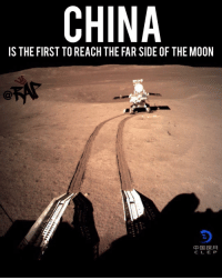 "Yesterday, the Chinese space program made history by being the first one to land an aircraft on the dark side of the moon. ⁣ -⁣ China's space agency posted a photo of the rover leaving marks on the far side of the moon.⁣ -⁣ ""It's a small step for the rover, but one giant leap for the Chinese nation,"" Wu Weiren, the chief designer of the Lunar Exploration Project. ""This giant leap is a decisive move for our exploration of space and the conquering of the universe.""⁣ -⁣ RapTVSTAFF: @thatkidcm⁣ 📸 Chinese National Space Program: CHINA  IS THE FIRST TO REACH THE FAR SIDE OF THE MOON  中国探月  CLE P Yesterday, the Chinese space program made history by being the first one to land an aircraft on the dark side of the moon. ⁣ -⁣ China's space agency posted a photo of the rover leaving marks on the far side of the moon.⁣ -⁣ ""It's a small step for the rover, but one giant leap for the Chinese nation,"" Wu Weiren, the chief designer of the Lunar Exploration Project. ""This giant leap is a decisive move for our exploration of space and the conquering of the universe.""⁣ -⁣ RapTVSTAFF: @thatkidcm⁣ 📸 Chinese National Space Program"