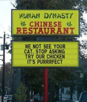 Chinese restaurant sign: Chinese restaurant sign
