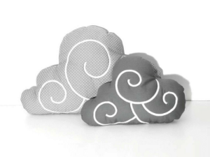 Tumblr, Blog, and Cloud: chinook-design:  Cloud Pillow Set (2)  - Nursery Decor - Kid Pillow -Light grey and white polka dot - Dark Grey