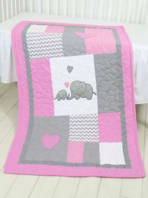 chinook-design:  Elephant  Baby Blanket, Elephant Quilt Blanket, Pink Gray Chevron Baby Patchwork Blanket by Customquiltsbyeva (130.00 USD) http://ift.tt/1Clrx5z : chinook-design:  Elephant  Baby Blanket, Elephant Quilt Blanket, Pink Gray Chevron Baby Patchwork Blanket by Customquiltsbyeva (130.00 USD) http://ift.tt/1Clrx5z