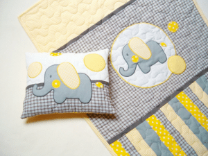 chinook-design:  Elephant Blanket in grey, yellow and white, Elephant Pillowcase by Customquiltsbyeva (60.00 USD) http://ift.tt/1Ki6zSy : chinook-design:  Elephant Blanket in grey, yellow and white, Elephant Pillowcase by Customquiltsbyeva (60.00 USD) http://ift.tt/1Ki6zSy