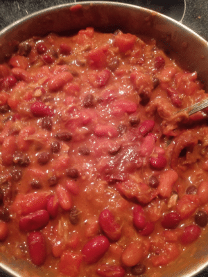Chipotle Pineapple Pork Chili and Crown Royal Rye. Gonna have legendary dumps tomorrow.: Chipotle Pineapple Pork Chili and Crown Royal Rye. Gonna have legendary dumps tomorrow.