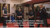 Dank, Donald Trump, and Funny: CHKA offers free self defense classes  in NYC through their SMASH program:  http://w  FUNNY DIE With the threat of 'Pussy Grabbing' on the rise, we sent Langan Kingsley to a self defense studio to see how she can best protect herself from Donald Trump and other potential pussy grabbers.
