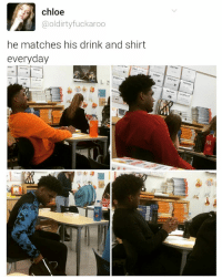 Boy got swagski. | For more @aranjevi: chloe  @oldirtyfuckaroo  he matches his drink and shirt  everyday  Cor  Mirar  keer  rar Boy got swagski. | For more @aranjevi