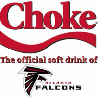 Great new ad deal for the Falcons: Choke  The official soft drink of  A T L A N T A  FFA LCD NS Great new ad deal for the Falcons