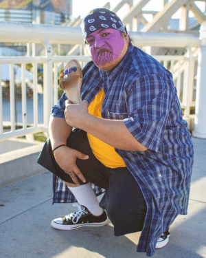 Cholo Thanos  the Infinity Chancla at San Diego Comic-Con 2018: Cholo Thanos  the Infinity Chancla at San Diego Comic-Con 2018
