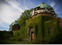 Cleveland, Abandoned, and Observatory: CHOOL OF <p>Abandoned observatory in Cleveland.</p>