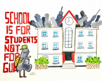 "Juvenile, School, and Tumblr: CHOOL  S FOR  STUDENTS  NBT  FO2  EU <p><a href=""http://mikiyhcart.tumblr.com/post/171906066379/enough-is-enough-school-should-be-safe-for"" class=""tumblr_blog"">mikiyhcart</a>:</p><blockquote><p>Enough is Enough. School should be safe for students.</p></blockquote>  <p>Hey Tumblr can you stop recommending this absolutely juvenile silliness to me?</p>"