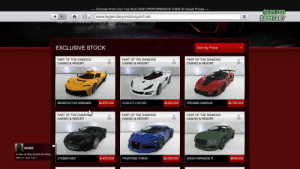 Cars, Hoe, and Casino: Choose From Our Top End HIGH PERFORMANCE CARS At Great Prices -  S626760  34H7287  www.legendarymotorsport.net  X  TICT LNIHiVIANCE CANS AT CNLA HOE  EXCLUSIVE STOCK  Sort by Price  PART OF THE DIAMOND  PART OF THE DIAMOND  PART OF THE DIAMOND  CASINO & RESORT  CASINO & RESORT  CASINO & RESORT  $2,750,000  BENEFACTOR KRIEGER  $2,875,000  OCELOT LOCUST  $1,625,000  PROGEN EMERUS  PART OF THE DIAMONAS  PART OF THE DIAMOND  PART OF THE DIAMOND  CASINO & RESORT  CASINO & RESORT  CASINO & RESORT  wimby02  A man or boy would not drive  that c r ap ca r  ENUS PARAGON R  VYSSER NEO  $1,875,000  TRUFFADE THRAX  $2,325,000  $905,000 R* is robbing us blind with the prices of these cars p.s ignore that child in the corner who's mom has not given him his bedtime milk yet