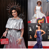 It's Grammy season, which means it's time for another outlandish Joy Villa outfit to grace the red carpet. This time, the conservative alt-rocker dressed as President Trump's border wall. You down with this? We've got her looks from the last two years. joyvilla grammys losangeles music tmz: CHOOSE  MAKE  AMERICA  GREAT AGAIN It's Grammy season, which means it's time for another outlandish Joy Villa outfit to grace the red carpet. This time, the conservative alt-rocker dressed as President Trump's border wall. You down with this? We've got her looks from the last two years. joyvilla grammys losangeles music tmz