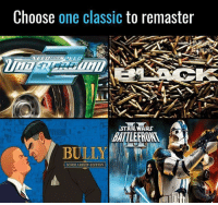 Choose One Classic to Remaster STAR WARS BULLY SCHOLARSHIP