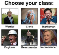 Go like Edgy Memes and Fashy Dreams 2: The Führer's Body Double: Choose your class  Clerics  Warrior  Marksman  Engineer  Beastmaster Necromancer Go like Edgy Memes and Fashy Dreams 2: The Führer's Body Double