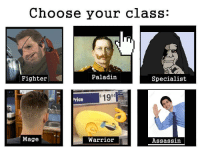 https://t.co/cc8xgVJhru: Choose your class:  Fighter  Paladin  Specialist  1994  rice  Mage  Warrior  Assassin https://t.co/cc8xgVJhru