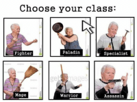 """Paladin, Tangled, and Eugene: Choose your class:  Fighter  Paladin  Specialist  emages  Mage  Warrioir  Assassin <p>Eugene from Tangled: """"Oh, mama! I have to get me one of these!""""</p>"""