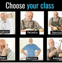 Memes, Best, and Paladin: Choose your class  ighter  Special  Paladin  Mage  Warrior  Assass Which Howard is best Howard?