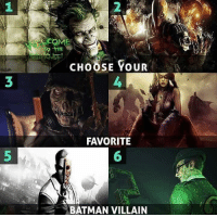 Feel free to interject any other option that isn't on this list  --Black Mask: CHOOSE YOUR  FAVORITE  BATMAN VILLAIN Feel free to interject any other option that isn't on this list  --Black Mask