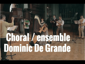 Dominic de Grandes -Meicost Ettal. This was one of the most beautiful songs I've heard in years. Everything is perfect, and the ending I had to repeat several times. Harp (Valeria Kurbatova), four choral singers, a Soprano saxophone, and an oboe. Truly magical. : Choral/ensemble  Dominic De Grande  Dominic de Grandes -Meicost Ettal. This was one of the most beautiful songs I've heard in years. Everything is perfect, and the ending I had to repeat several times. Harp (Valeria Kurbatova), four choral singers, a Soprano saxophone, and an oboe. Truly magical.