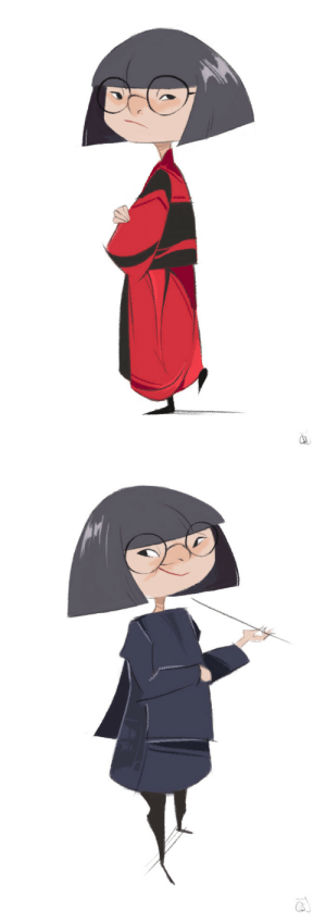 Target, The Incredibles, and Tumblr: choxii-art:  a couple of Edna Modes from the Incredibles 2 movie