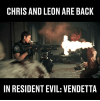 The best zombie killing scene I've seen in a while!: CHRIS AND LEON ARE BACK  IN RESIDENT EVIL: VENDETTA The best zombie killing scene I've seen in a while!